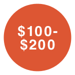 $100-$200