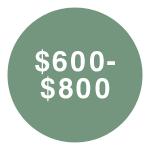 $600-$800